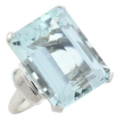 Retro 21+ Carat Aquamarine Cocktail Ring