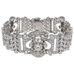 Retro 24 Carat Diamond Platinum Bracelet