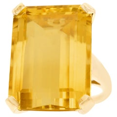 Retro 25 Carat Citrine Ring