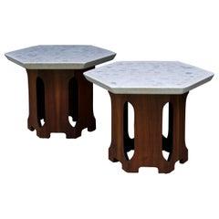 Retro Architects Terrazzo Geometric Stone Tables Walnut Cabin Modern Lautner