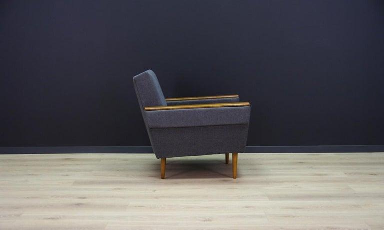 Fabric Retro Armchair Scandinavian Design Vintage For Sale