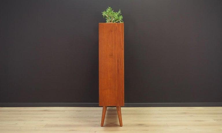 Retro Bookcase 1960-1970 Teak Danish Design In Good Condition For Sale In Okunica, Zachodniopomorskie