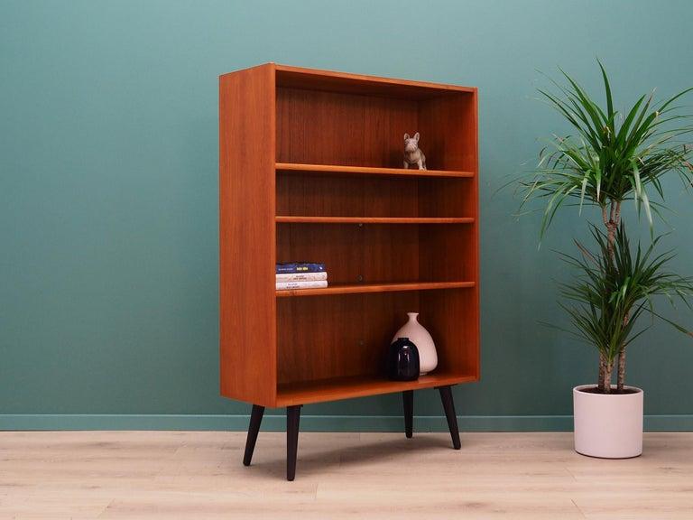 Scandinavian Modern Retro Bookcase Scandinavian Design Teak For Sale