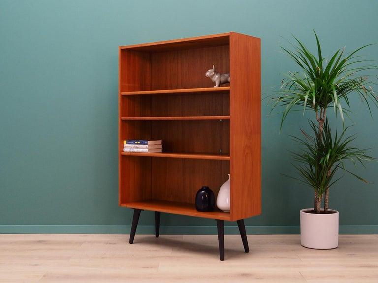 Danish Retro Bookcase Scandinavian Design Teak For Sale