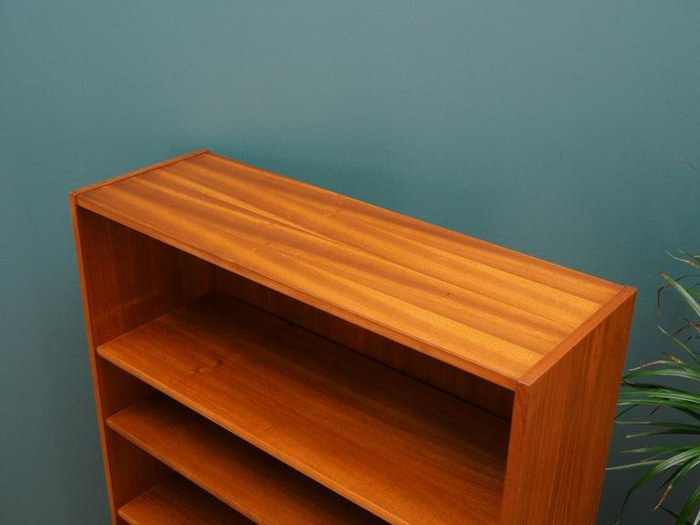 Veneer Retro Bookcase Scandinavian Design Teak For Sale