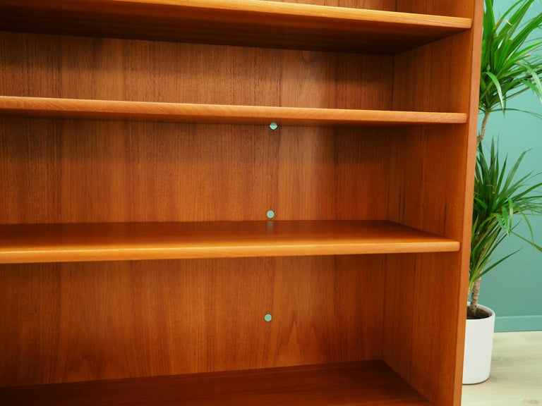 Retro Bookcase Scandinavian Design Teak For Sale 2