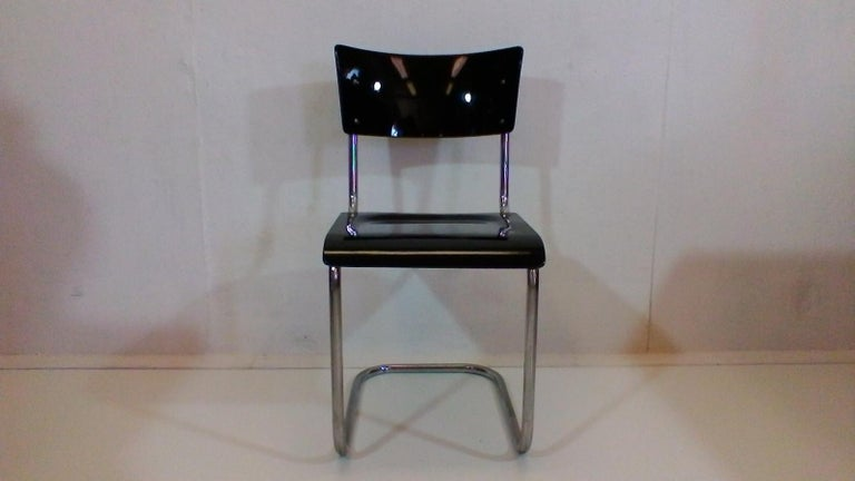 Czech Retro Chromed Chair by Jindřich Halabala, 1930s For Sale