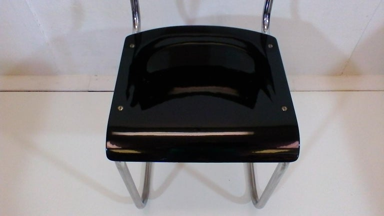 Retro Chromed Chair by Jindřich Halabala, 1930s In Good Condition For Sale In Barcelona, ES
