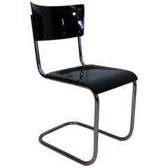 Retro Chromed Chair by Jindřich Halabala, 1930s