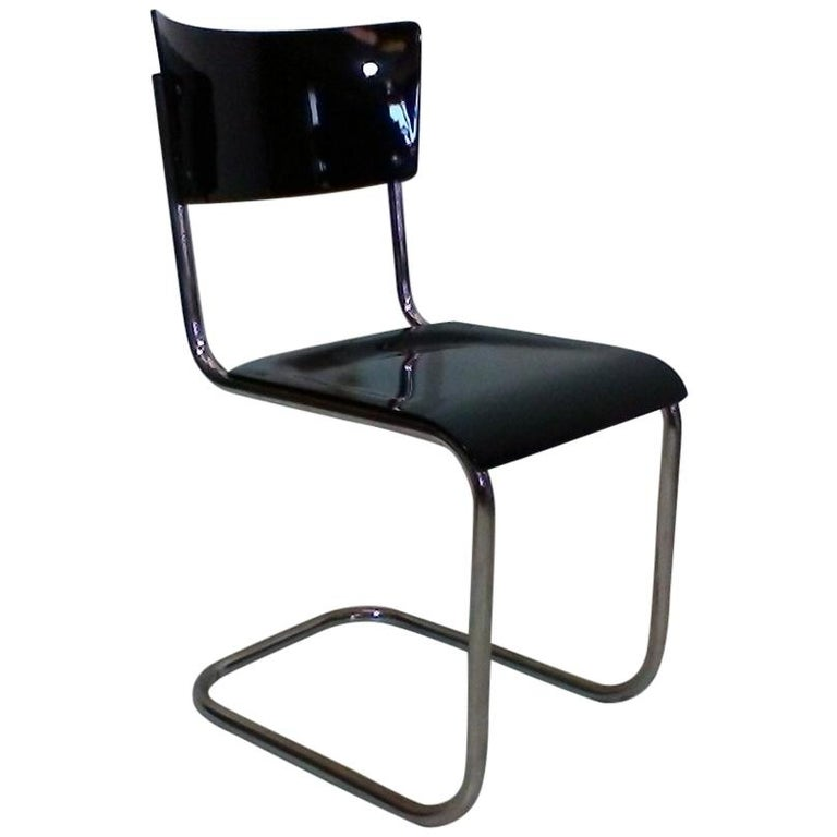 Retro Chromed Chair by Jindřich Halabala, 1930s For Sale