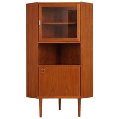 Retro Corner Cabinet Vintage Danish Deisgn