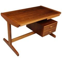 Retro Desk in Walnut, circa 1960