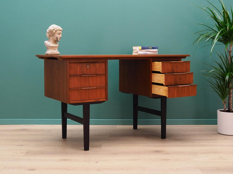 Danish Retro Desk Scandinavian Design, 1960-1970 For Sale