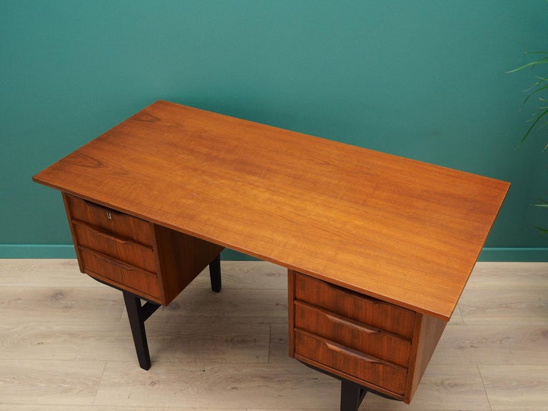 Teak Retro Desk Scandinavian Design, 1960-1970 For Sale