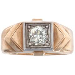 Retro Diamond 18 Karat Gold Ring