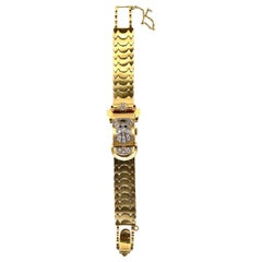 Retro Diamond Gold Cover Watch