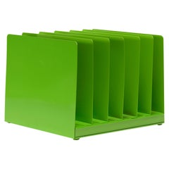 Retro File Office Organizer, Refinished in Lime Green
