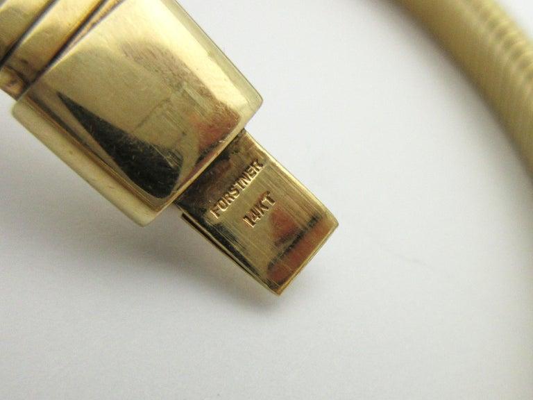 Retro Forstner Gaspipe Tubogas Choker Necklace For Sale 1