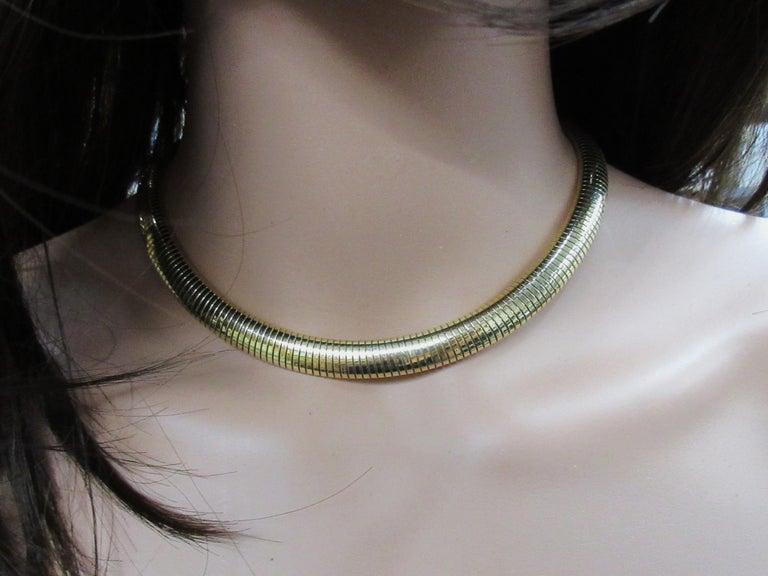Retro Forstner Gaspipe Tubogas Choker Necklace For Sale 3