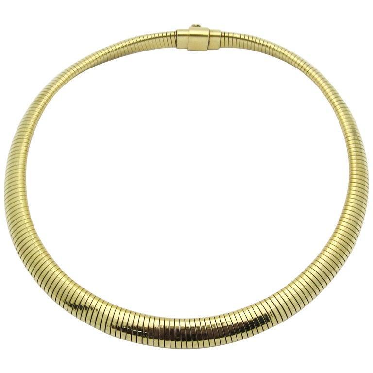 Retro Forstner Gaspipe Tubogas Choker Necklace For Sale