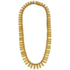 Retro French 18 Karat Yellow Gold Necklace, circa 1940s