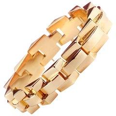 Retro French 18ct Gold Tank Bracelet