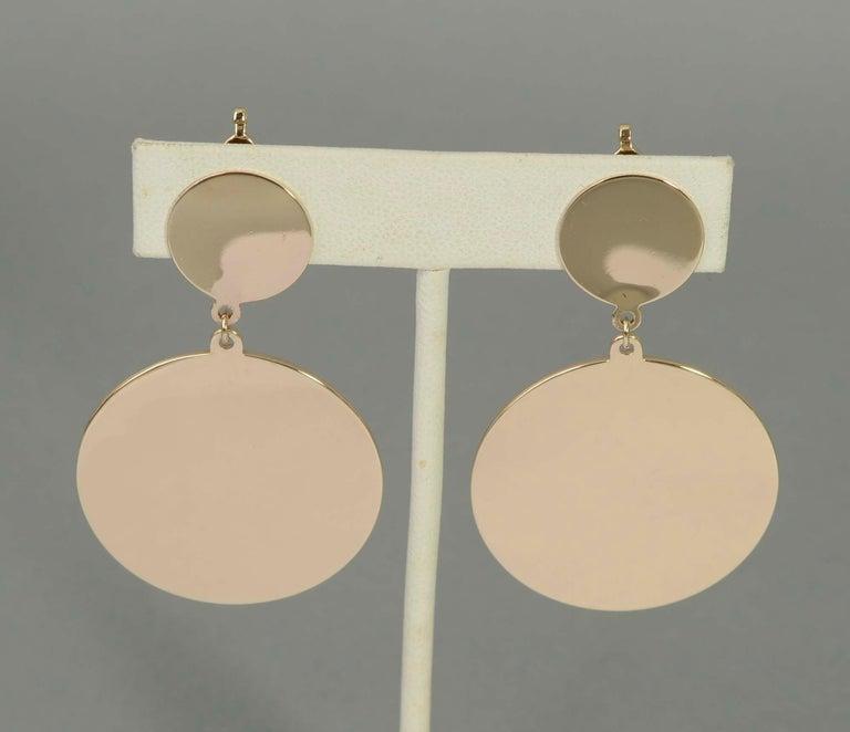 Women's Retro Gold Dangle Earrings For Sale