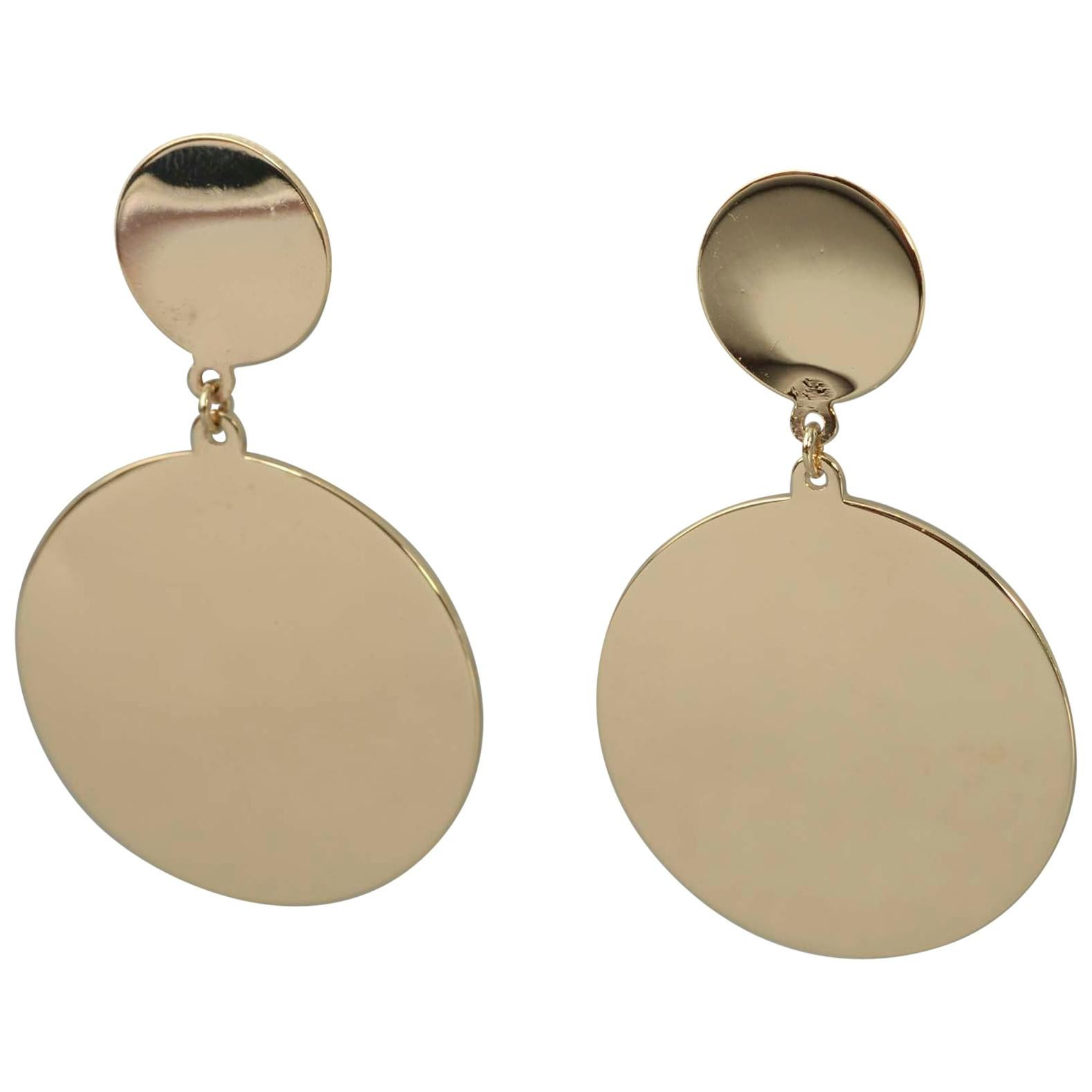 Retro Gold Dangle Earrings
