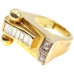 Retro Gold Diamond Ring