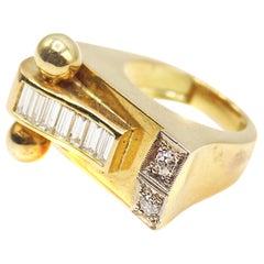 Retro Gold Diamond Ring