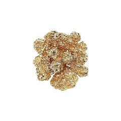 Retro Gold Flower Ring