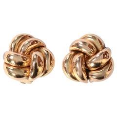 Retro Gold Knot Earrings
