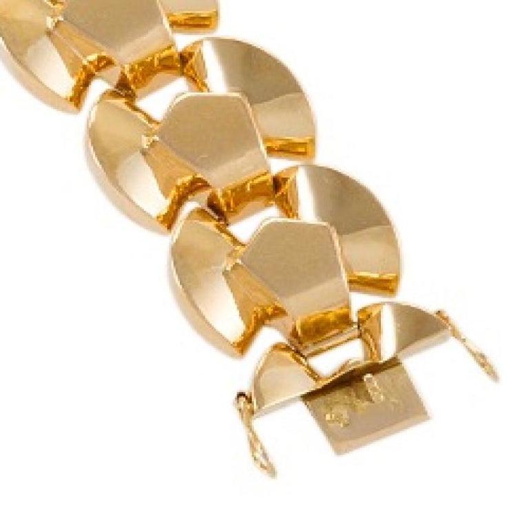 Women's Retro Gold Link Bracelet For Sale