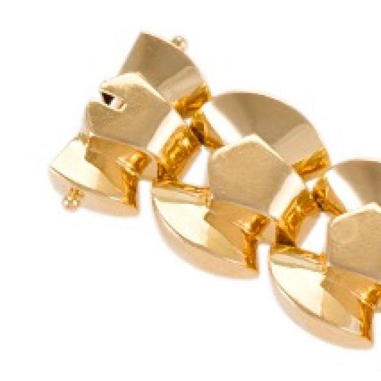Retro Gold Link Bracelet For Sale 1