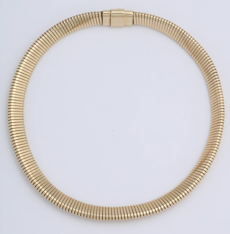Women's or Men's Retro Gold Snake Necklace For Sale