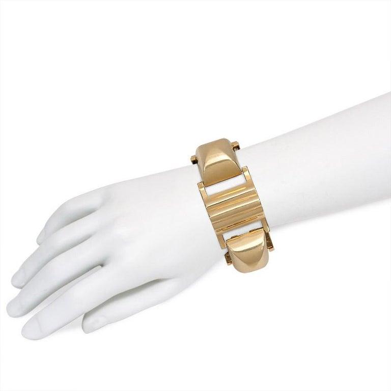 Women's or Men's Retro Gold Chunky Sugarloaf Link Bracelet For Sale