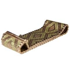 Retro Gold Woven Bracelet