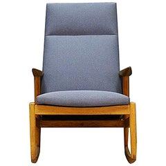 Retro Gray Rocking Chair Ashe Vintage Danish Design