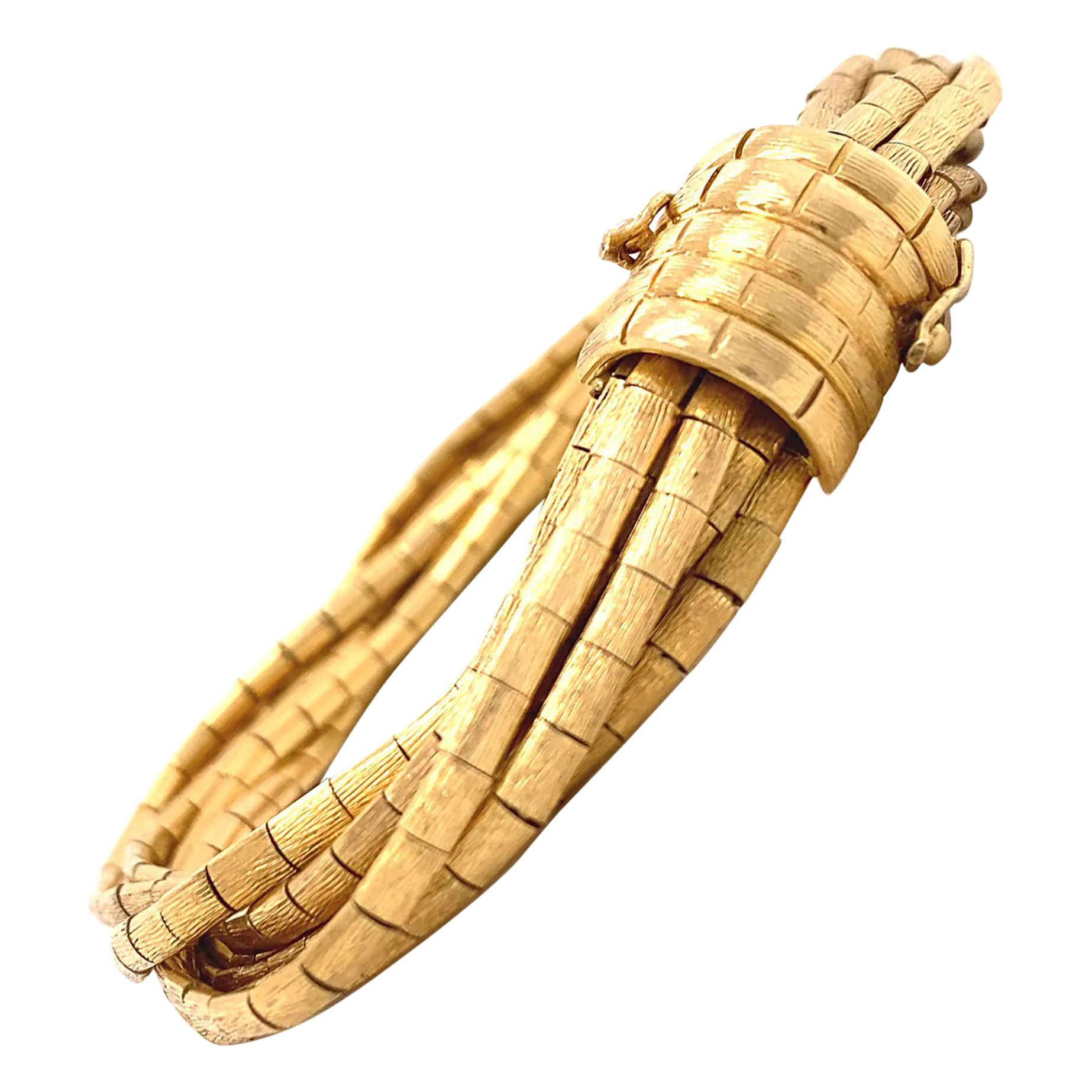 Retro Italian 18 Karat Gold Bracelet