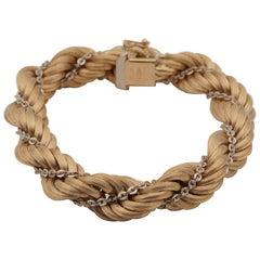 Retro Large Torsade Rope Chain Huge Bracelet