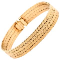 Retro Mario Buccellati 18 Karat Yellow Gold Bracelet