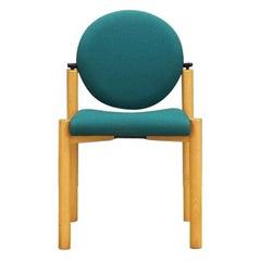 Retro Midcentury German Green Chair Beech