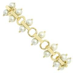Retro Midcentury Tiffany Pearl Bracelet Retro 2 Rows Mikimoto Original Box