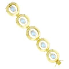Retro-Modern Moonstone Bracelet