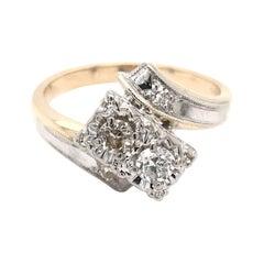 Retro Moi et Toi Diamond Ring