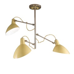 Retro Mustard Three-Light Ceiling Lamp