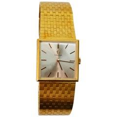 Retro Omega Gold Dress Wristwatch