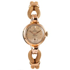 Retro Rolex Ladies Rose Gold Automatic Dress Watch