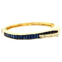 Retro Sapphire Diamond 18 Karat Gold Bracelet