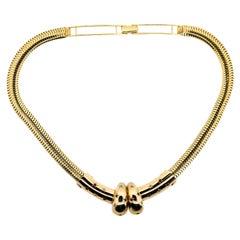 Retro Snake Gold Necklace